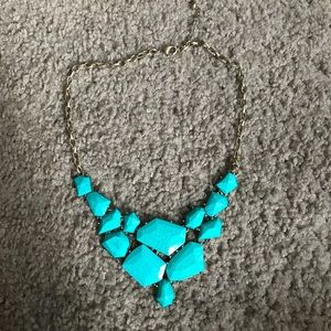 Jewelry - Gold/Teal Necklace
